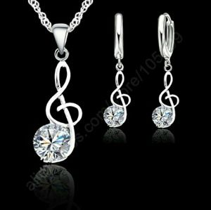 Jewelry - 🆕18k White Gold Plated Set Earings Charm Necklace